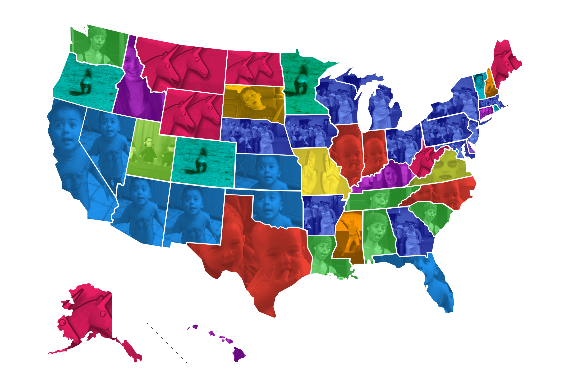 favorite viral videos by state map