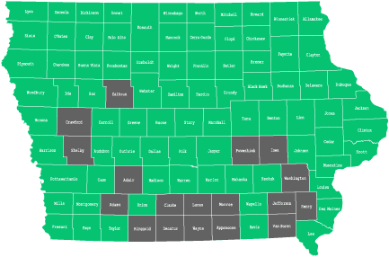 Availability by County in Iowa