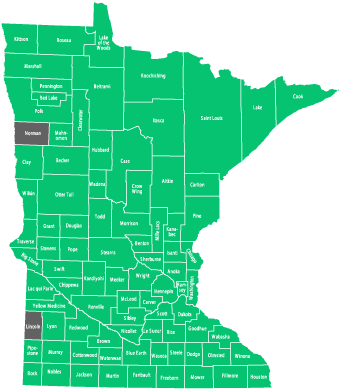 Availability by County in Minnesota