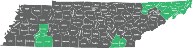 Availability by County in Tennessee