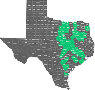 Availability by County in Texas