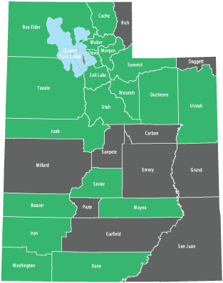 Availability by County in Utah