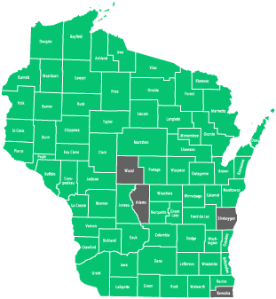 Availability by County in Wisconsin